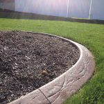 Spanish texture slant curbing in Lehi, Utah by Utah Valley Curb, photo 1